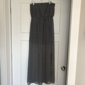 H&M strapless empire waist dress